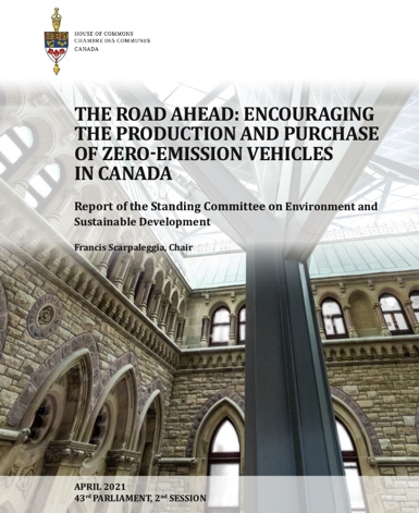 The road ahead: Encouraging the production and purchase of Zero- Emission Vehicles in Canada (PDF)